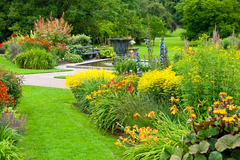 lawn services for beautiful grass, flowers, garden